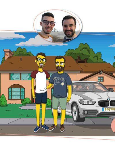 Caricatura Simpson