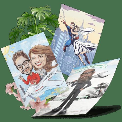 ejemplos de caricaturas