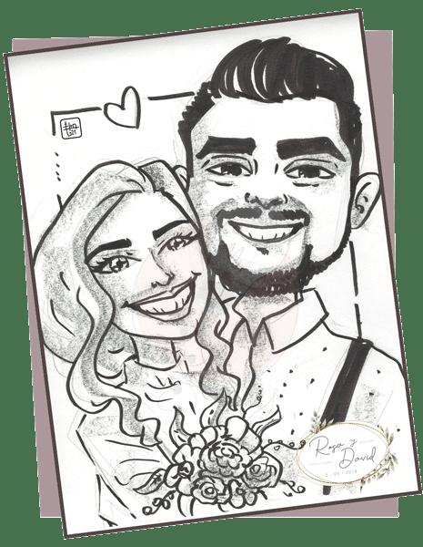 caricaturista boda madrid